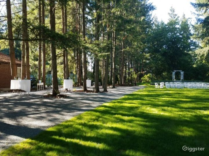 Event Space Canopied by Evergreen Trees Photo 5