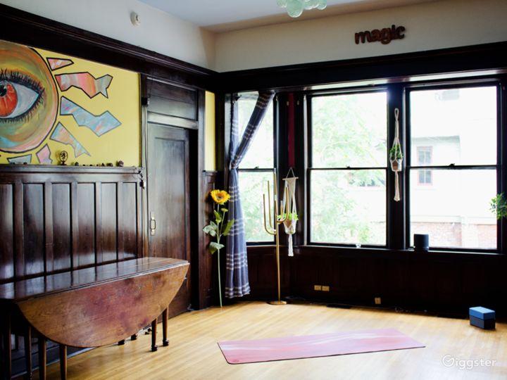 Open space yoga/dance/meeting room