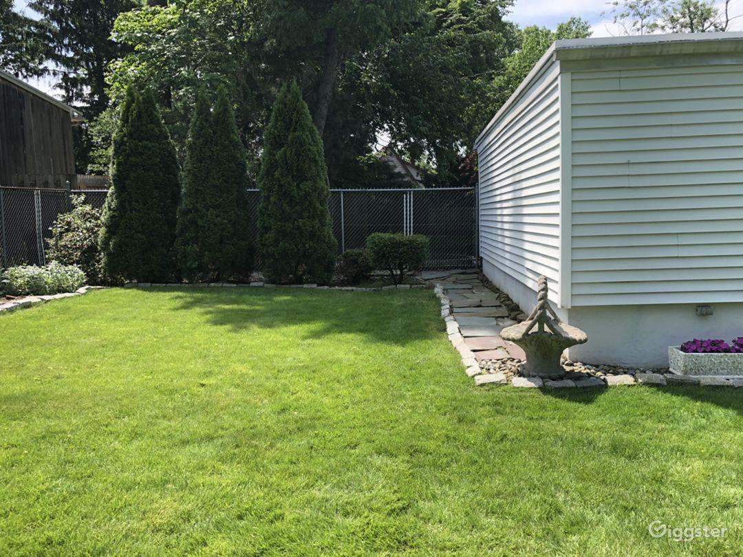 back of the garage landscape