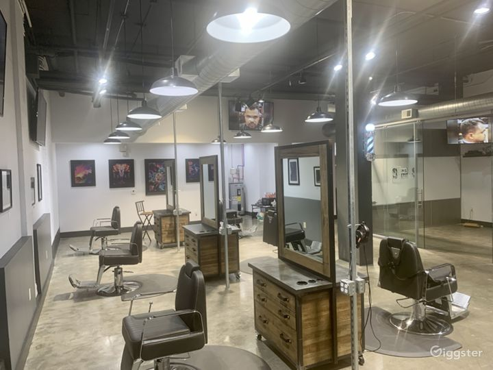 Barber Chairs & Stations socially distanced