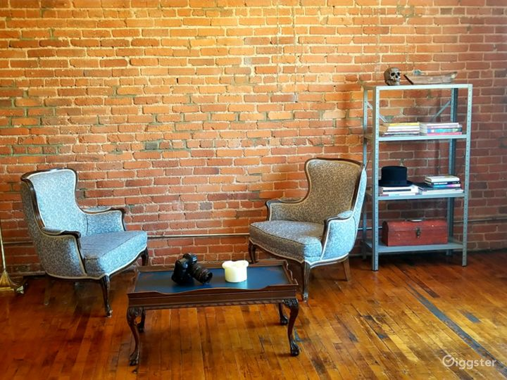 bricks and unique furniture