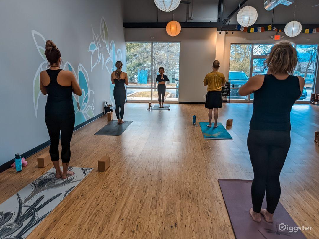 Light, Warm, Airy, and Welcoming Yoga Studio Photo 1