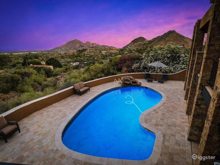 Castle in the hills overlooking Camelback Mountain Photo 4
