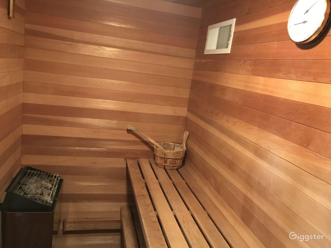 Sauna spa in master bath suite
