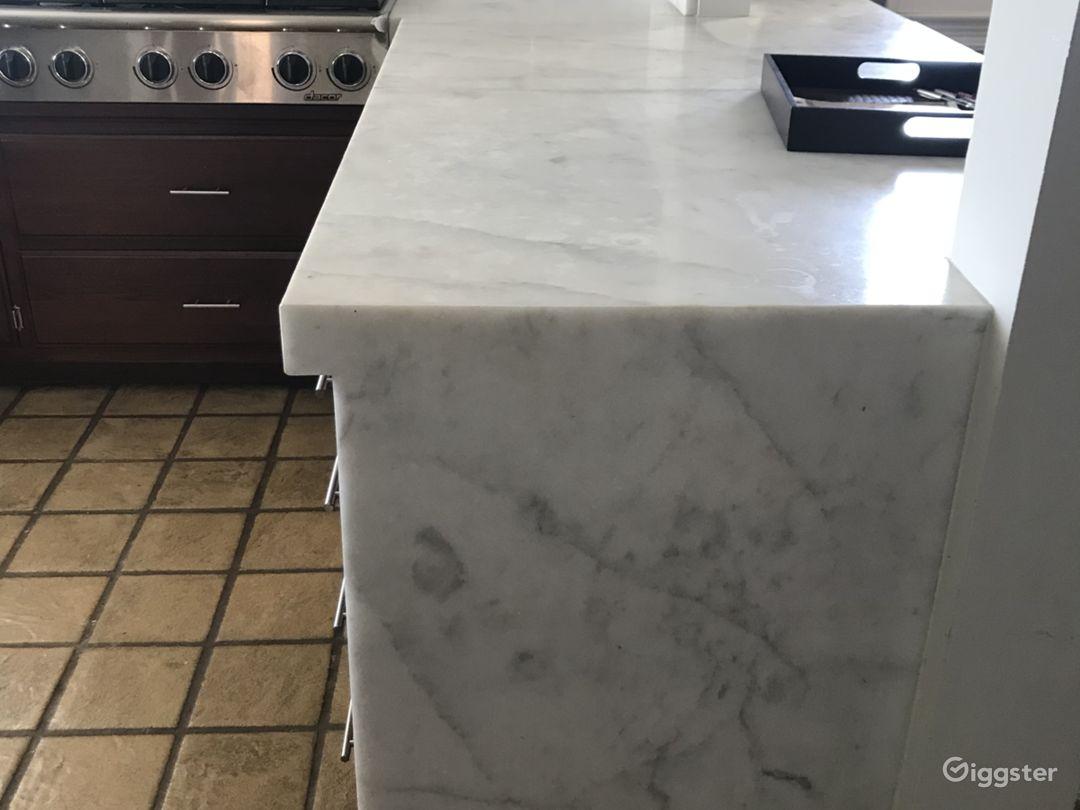 Italian marble kitchen counters