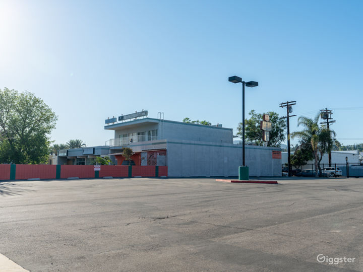 NEW-Empty Parking Structure with brick buildings  Photo 5