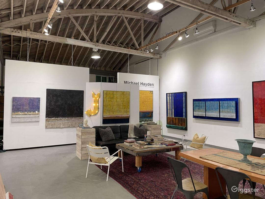 Partial view looking into the gallery space