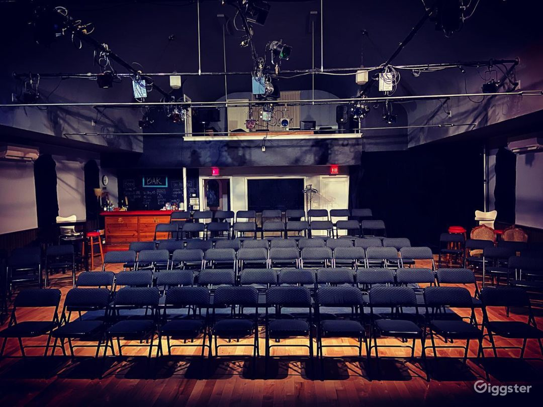 With chairs set up
