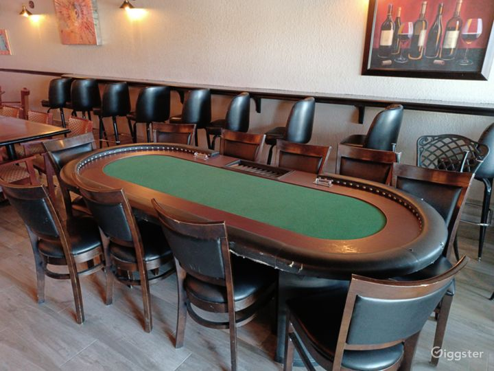 Poker tables available for private events.