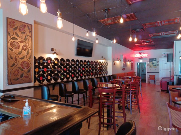 Bar Seating, High Top Table Seating and Regular Seating available.