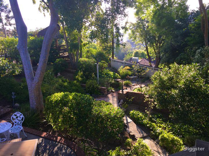 Golden light, LG patio/yard, sunset view!