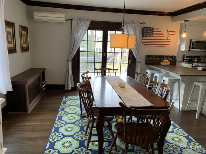 Dining Room with open concept