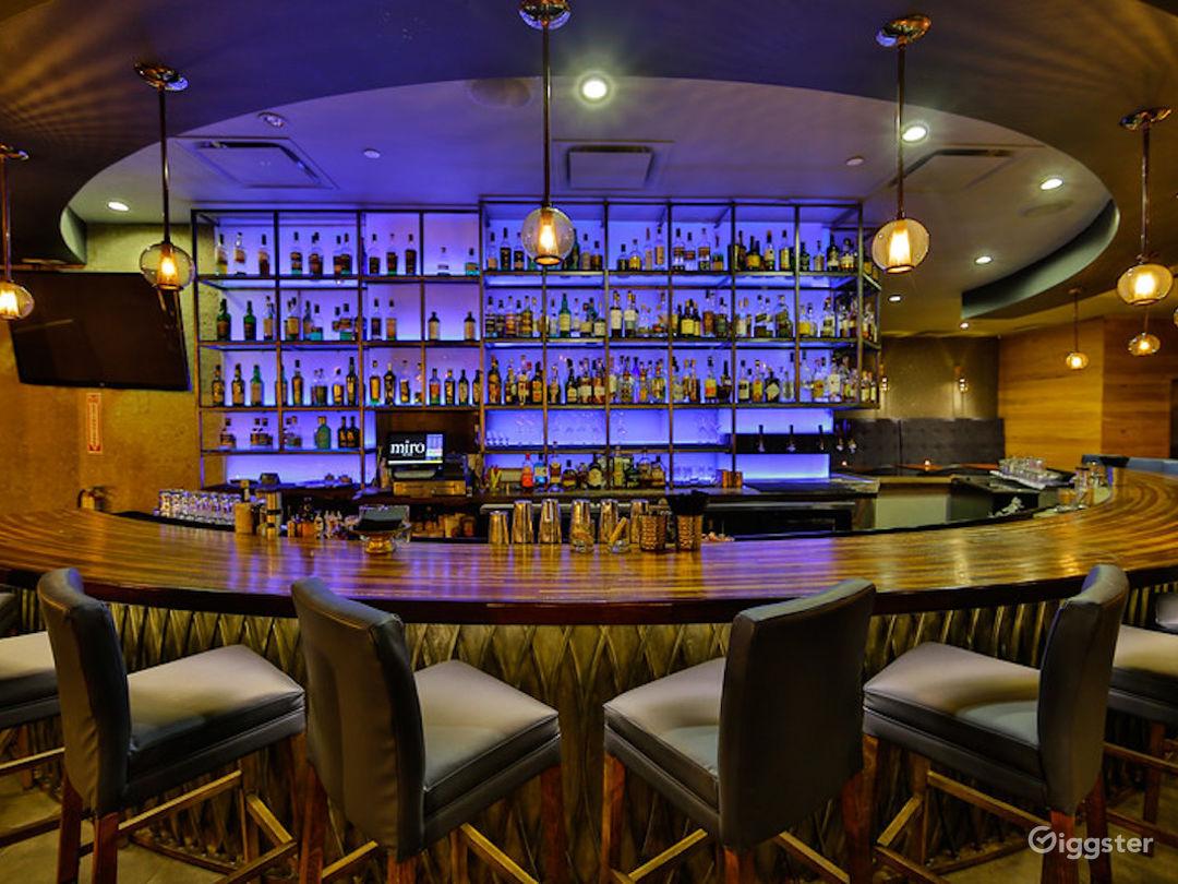illuminated bar shelving