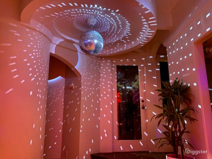 Eclectic Disco Meets Mid-Century Modern Tropical