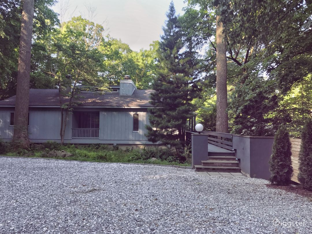 1970s Modern Home set in the Woods Photo 1