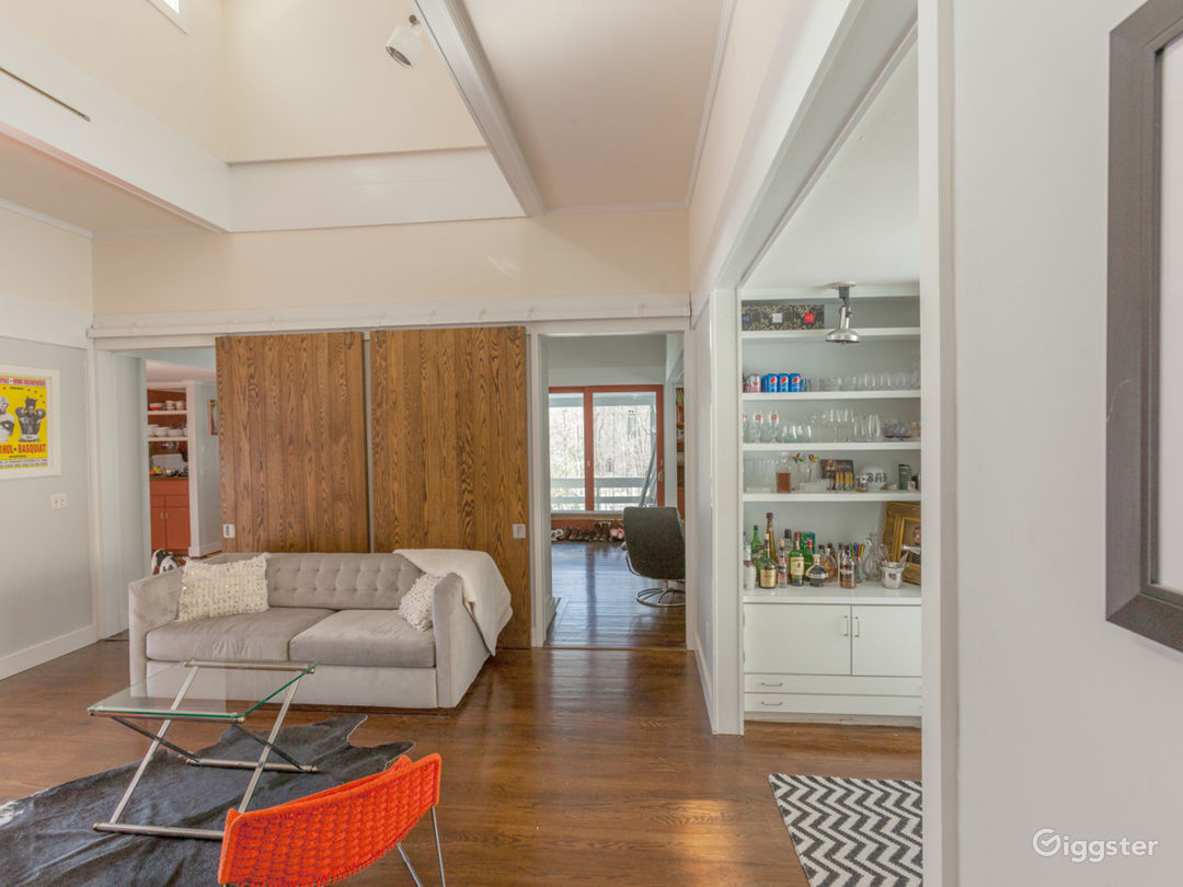 1970s Modern Home set in the Woods Photo 2