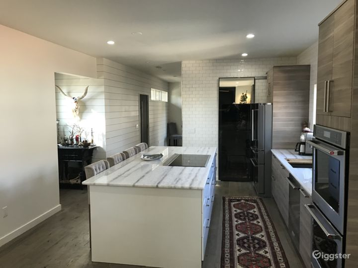 Kitchen has tons of natural light from both sides