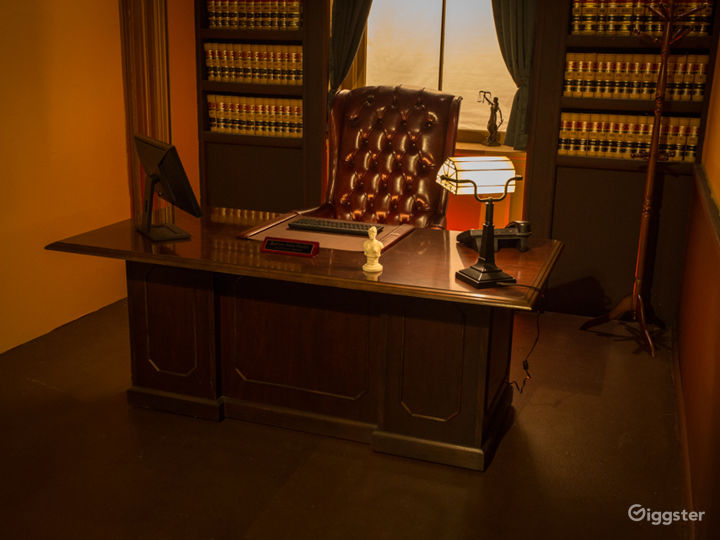 Executive Judge's Chamber Office Standing Set Photo 3