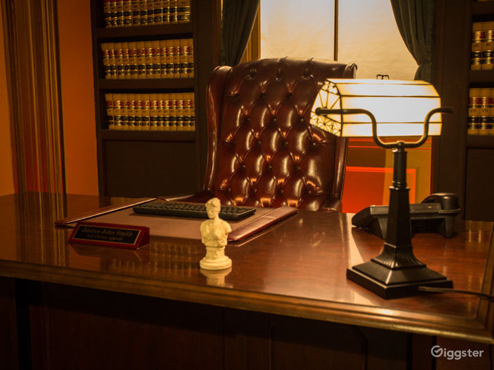 Executive Judge's Chamber Office Standing Set Photo 4