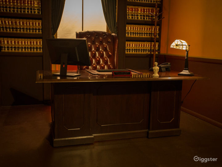 Executive Judge's Chamber Office Standing Set Photo 2