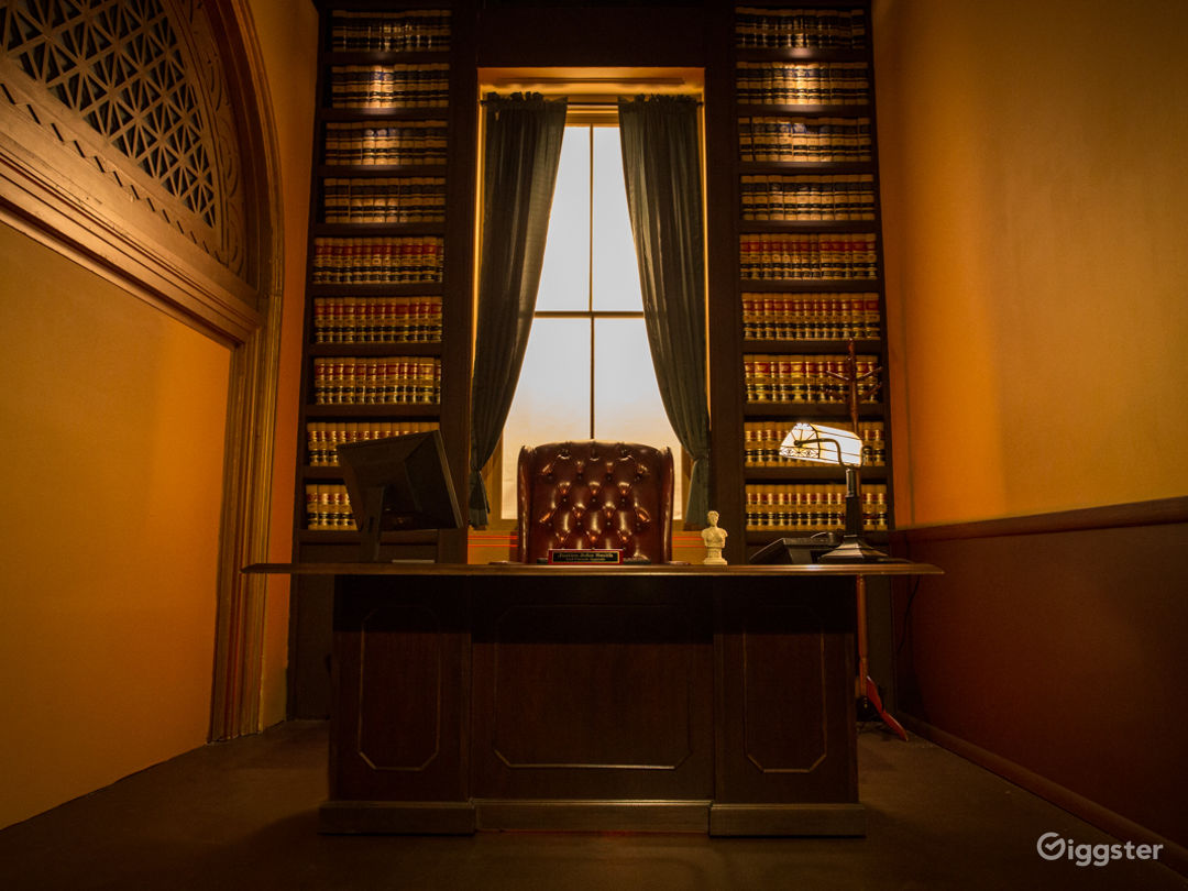 Executive Judge's Chamber Office Standing Set Photo 1