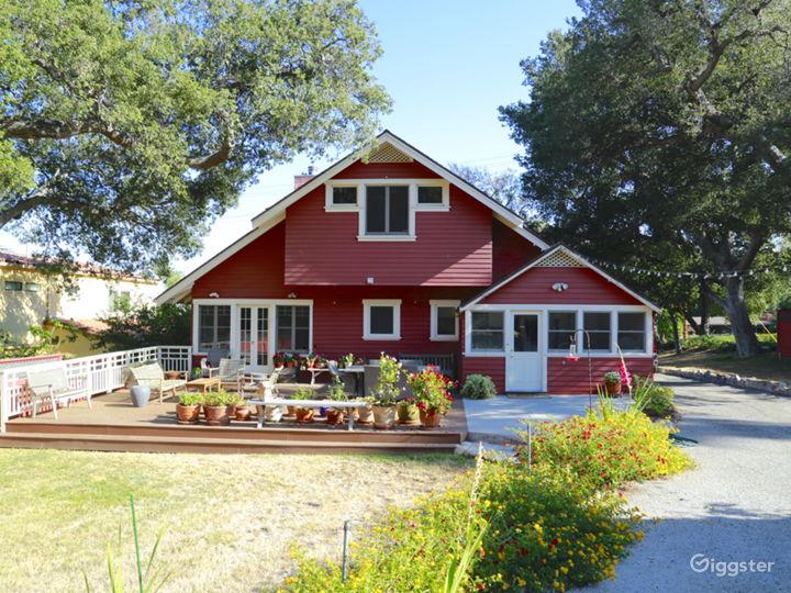 Gorgeous Red Craftsman / Farm House • Sierra Madre Photo 2