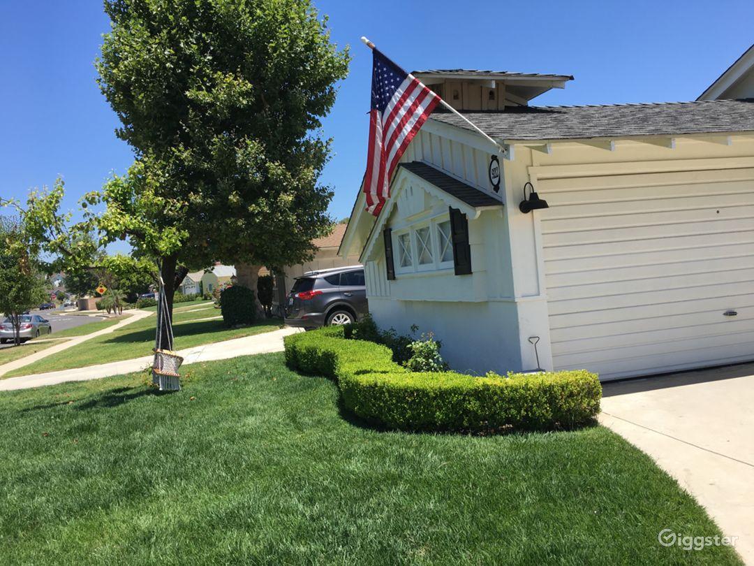 Front yard & garage