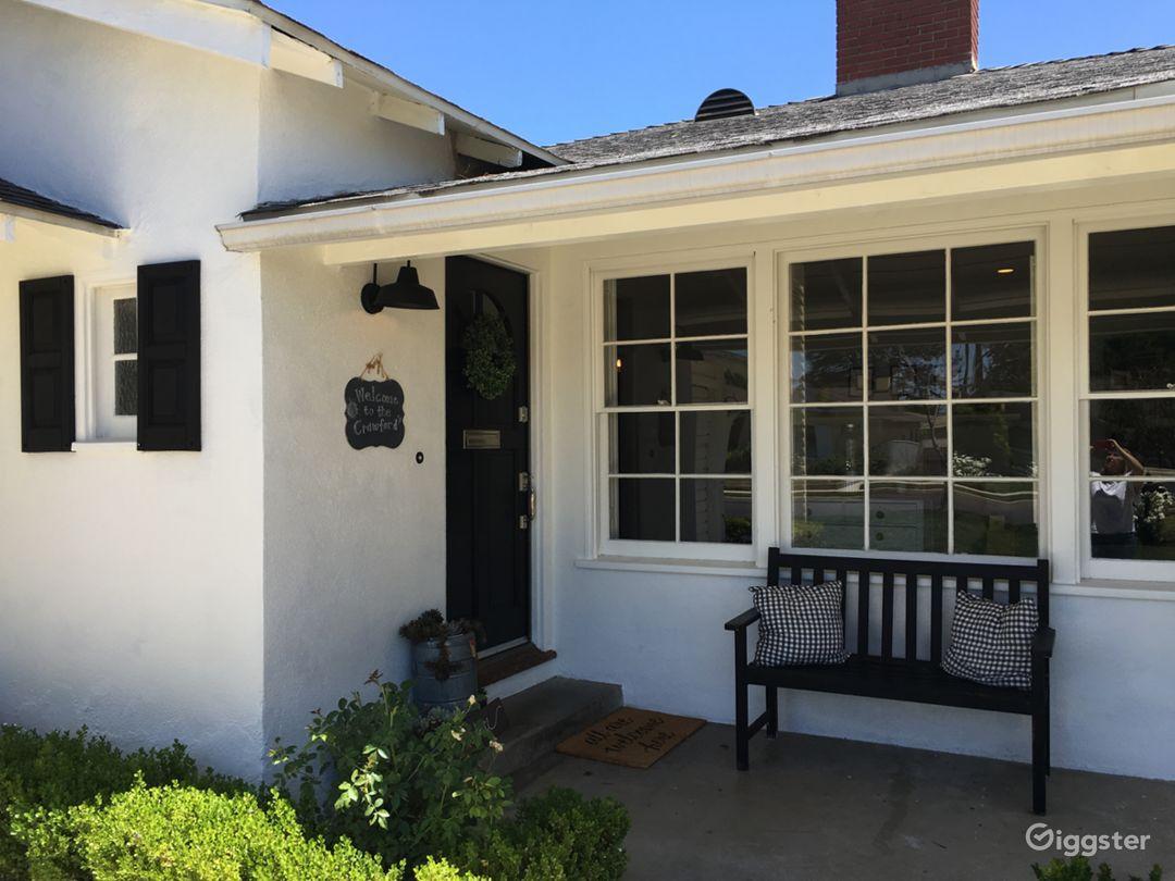 Front door porch
