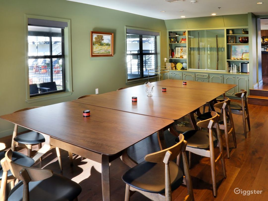 Stylish Meeting Boardroom and Covered Patio Photo 1
