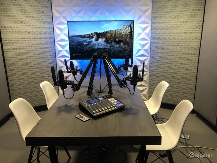 Modern Audio Recording Podcast Room Photo 3