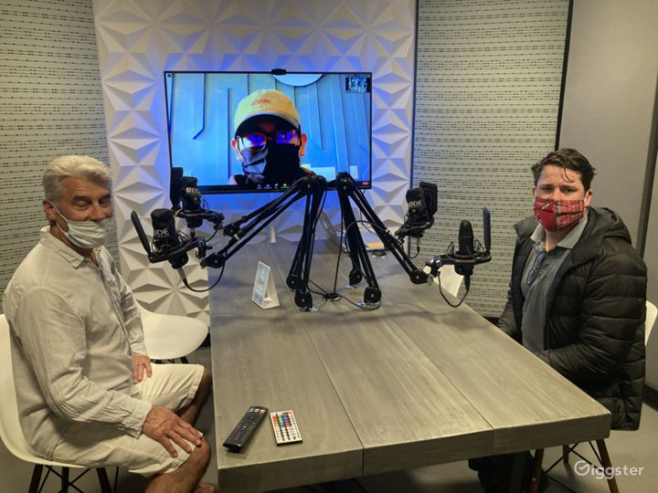 Modern Audio Recording Podcast Room Photo 4
