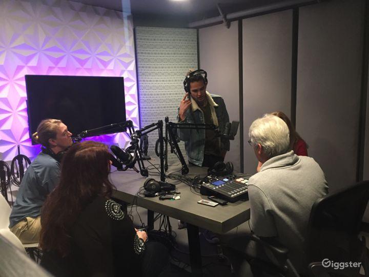 Modern Audio Recording Podcast Room Photo 2