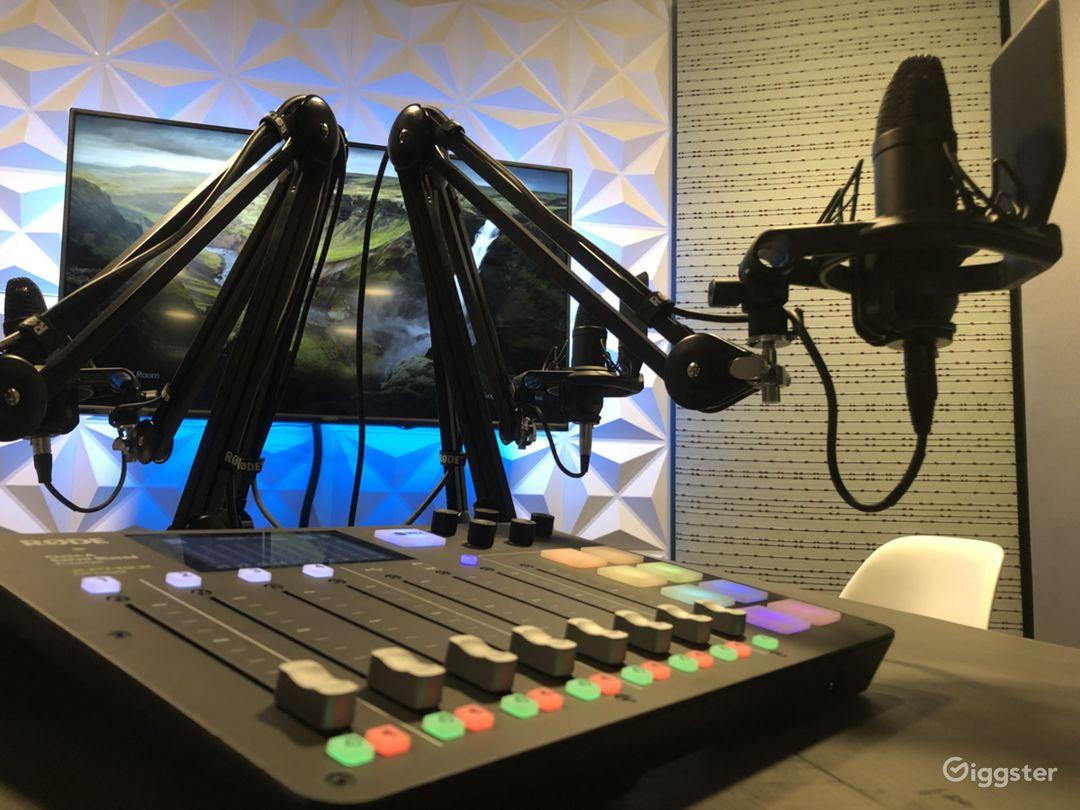 Modern Audio Recording Podcast Room Photo 1