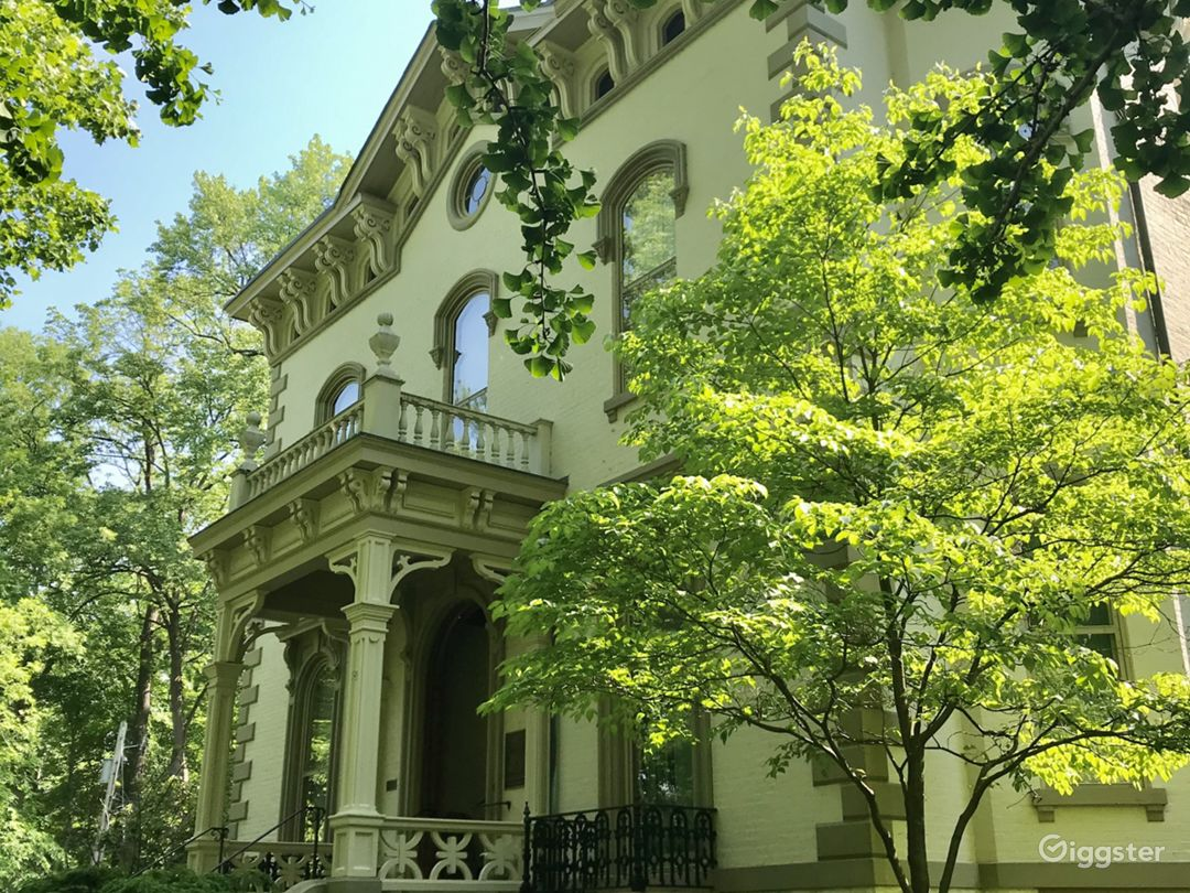 """Original front of the 1865 """"Promont House"""" in Milford, Ohio. Classic Italianate style former home of Ohio governor John Pattison."""