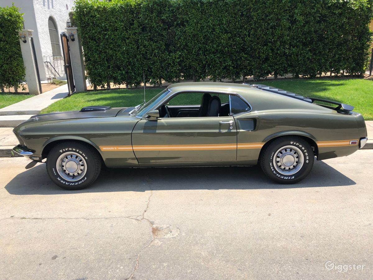 Rent the cartransportation 1969 ford mustang cobra jet mach 1 for filming