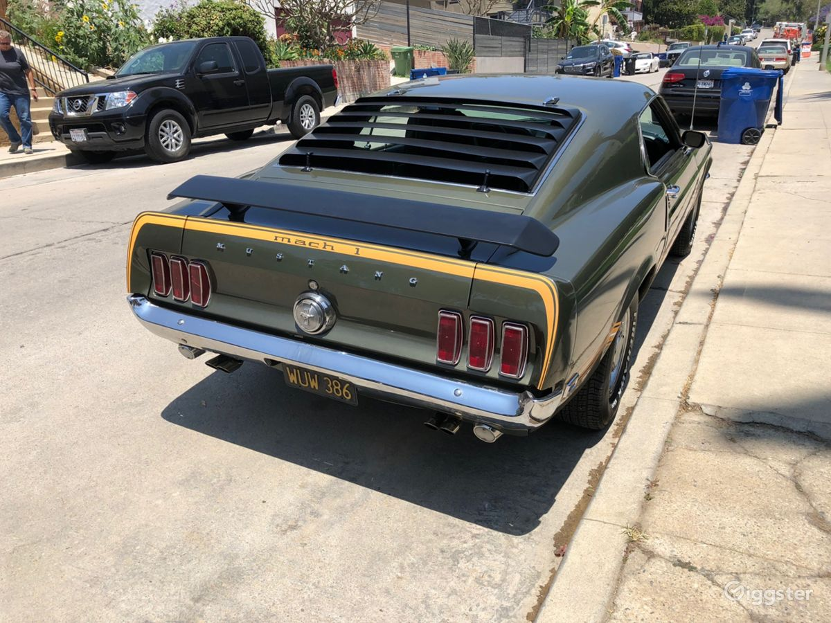 Rent the cartransportation 1969 ford mustang cobra jet mach 1 for film
