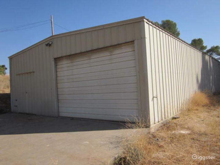 Covid19 compliant 2 warehouses,field,roads,shack