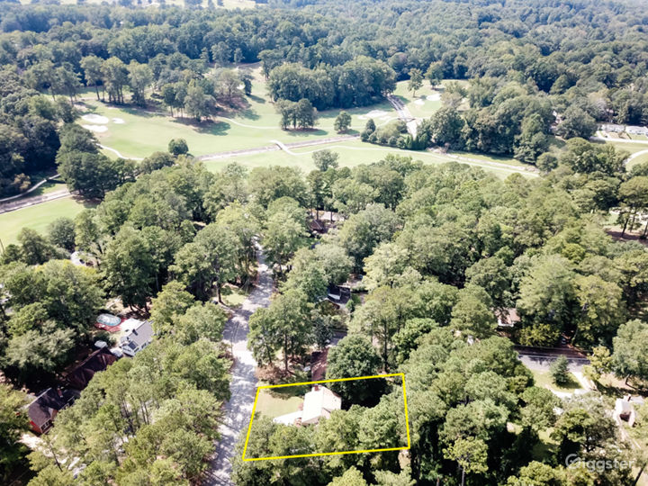 Aerial shot of the Golf Course that's walking distance to the property