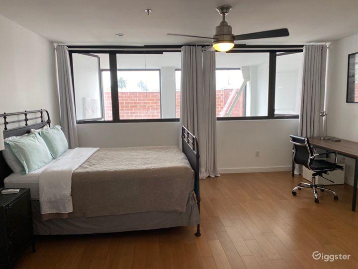 Bedroom above kitchen