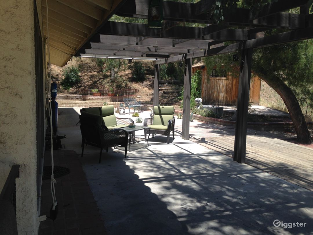 Outdoor patios on 3 sides of the home