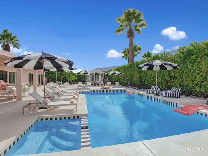 Mod Mirror Villa:  Glam Hollywood Regency estate
