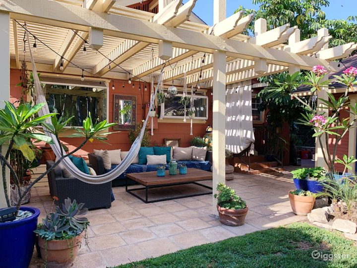 Outdoor Lounge & Seating Area with Hammock