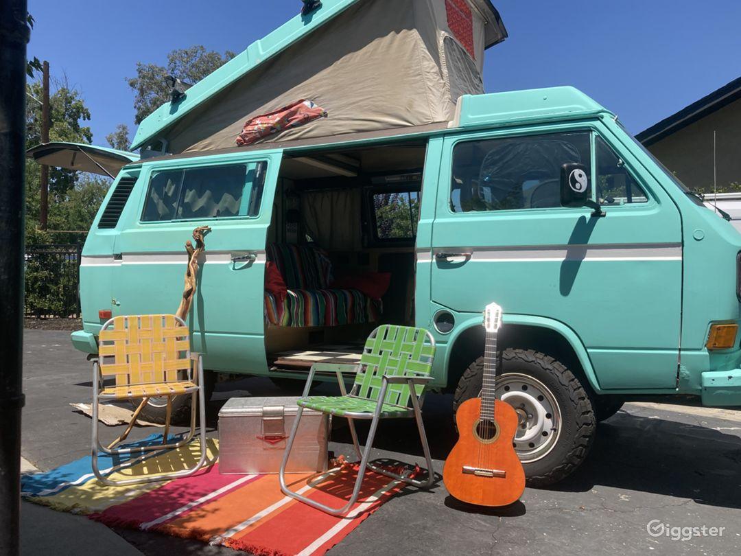 Sky Blue Surfer/Hippie Van