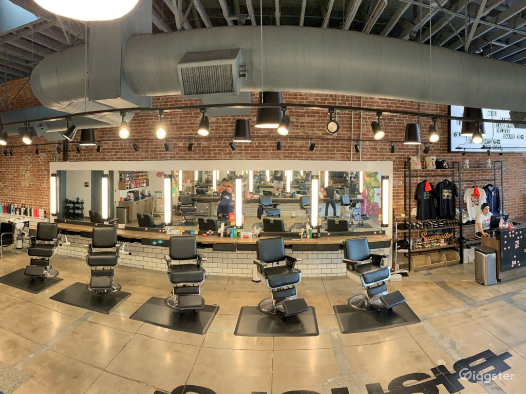 On point unisex salon / barbershop. Great modern edgy space! Super cool office / meeting space in back!