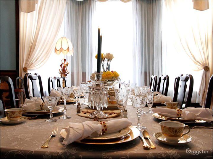 Hassinger Daniels Mansion BB Dining Room Detail