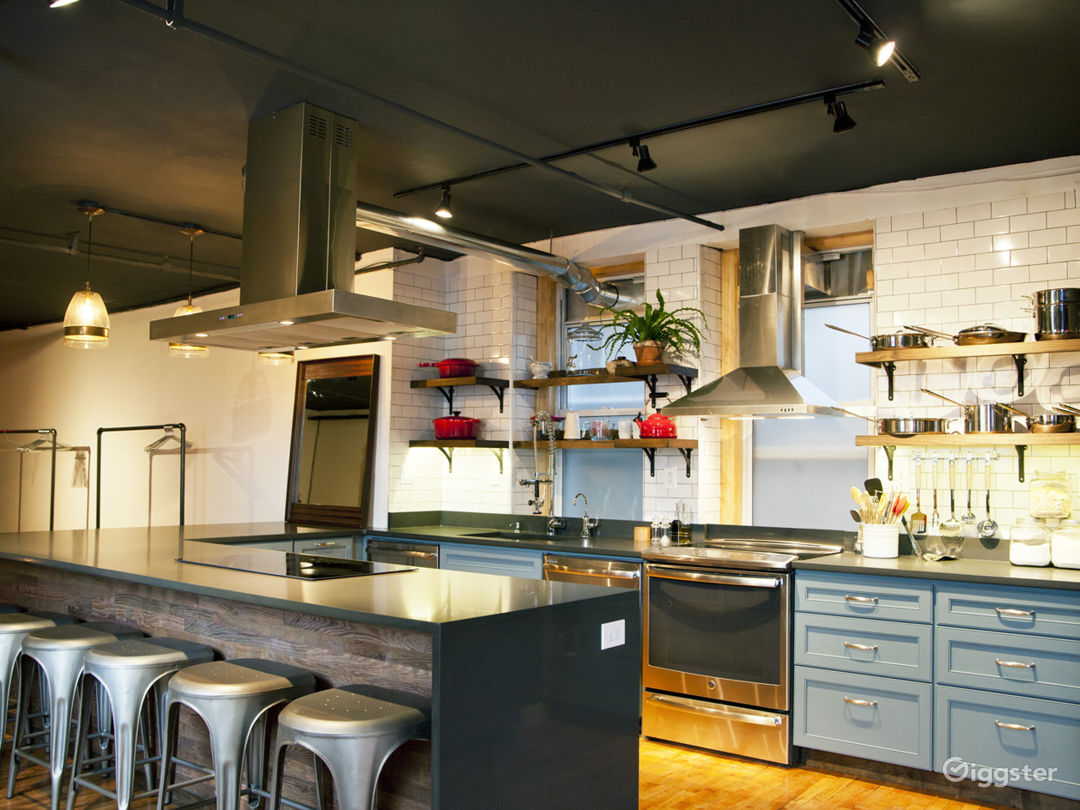 Our ample countertop is ideal for cooking demos
