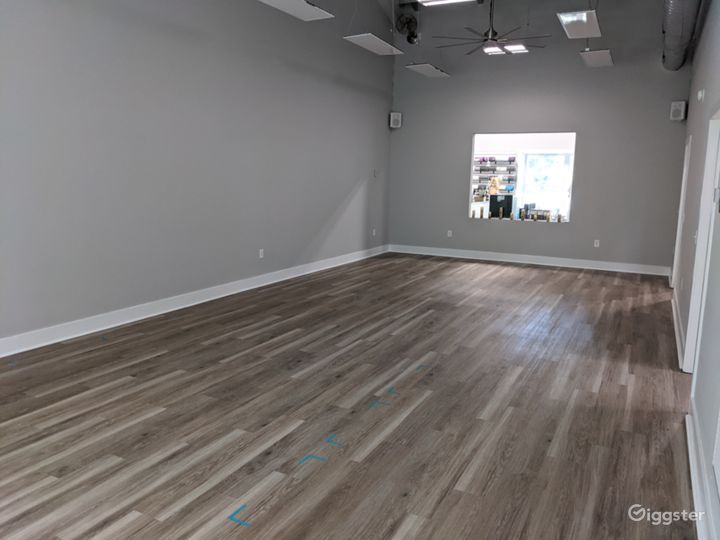 Second yoga room, appx. 800 sq. feet.