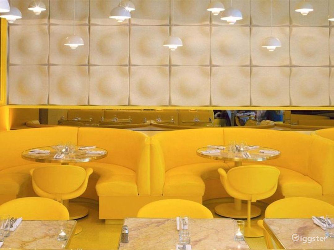 Atmospheric Yellow Style Restaurant Photo 1