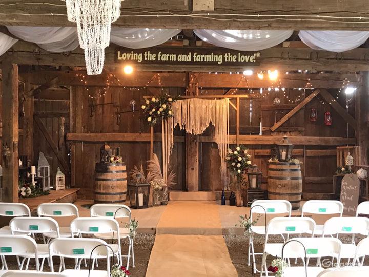 Wedding setup in the barn