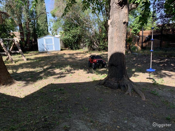 Dirt ground. You will need outdoor rug or wooden dance floor.